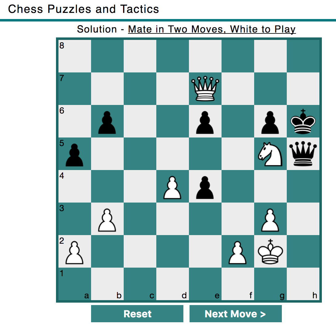 Example: mate in two moves